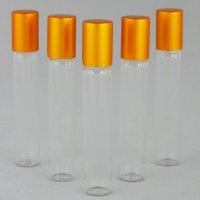 Роллер косметичний Ascorp скляний 10мл прозорий набір 5шт (874)