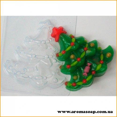 Елочка с гирляндами 70г (пластик)