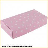 Коробка натуральна Рожева в сердечко