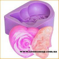 Бабочка с розой элит-форма