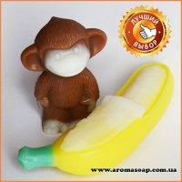 Банан очищенный и Мартышка-мини 3D элит-форма