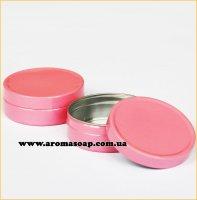 Баночка 10мл алюминиевая розовая