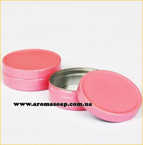 Баночка 10 мл алюминиевая розовая