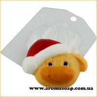 Бык в новогодней шапке 60 г (пластик)