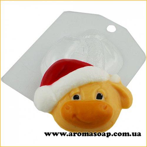 Бик в новорічній шапці 60 г (пластик)