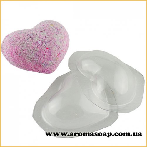 Сердечко для бомбочек 50 г (пластик)