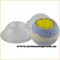 Сфера для бомбочек с углублением круг 110 г (пластик)