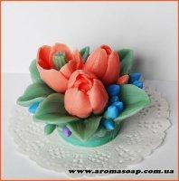 Букет з трьох тюльпанів 3D еліт-форма