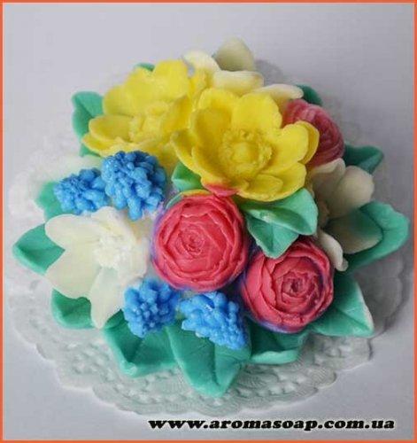 Букет весенних цветов 3D элит-форма