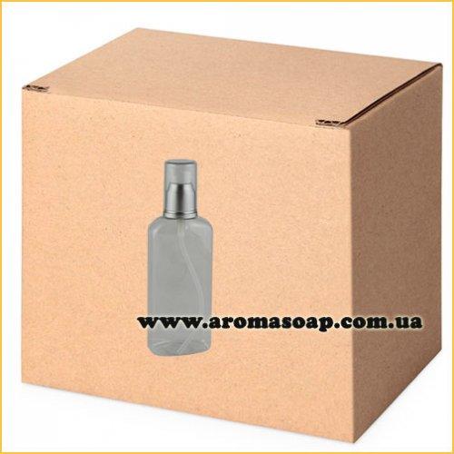 Бутылочка плоская 100 мл + Дозатор алюминиевый ОПТ 500шт