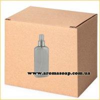 Бутылочка плоская 100 мл + Пульверизатор алюминиевый ОПТ 500шт