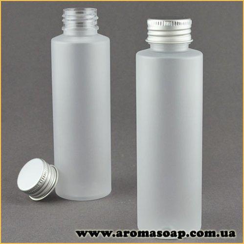 Пляшка кругла матова 100 мл + Алюмінієва кришка