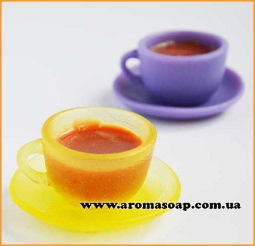 Чашка з блюдцем 3D (2 форми) еліт-форма