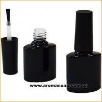 Черный стеклянный флакон с кисточкой 8мл