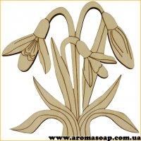Заготівля з фанери №150 Квіти-3