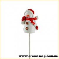 Декор на палочке Снеговик керамика