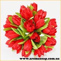 Тюльпаны на проволоке красные 20шт