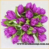 Тюльпани на дроті сливові 20шт