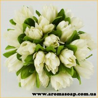 Тюльпани на дроті кремові 20шт