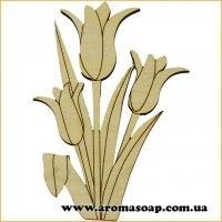 Заготівля з фанери №154 Квіти-7