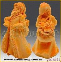 Дід Мороз з мішком подарунків 3D еліт-форма