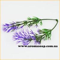 Добавка в букет 48 10 шт травичка фіолетово-зелена