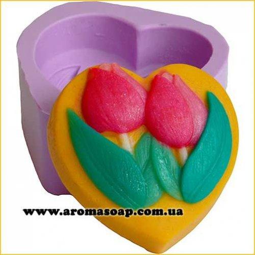 Два тюльпана в серці еліт-форма
