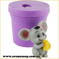 Мышонок с сыром мини 3D элит-форма