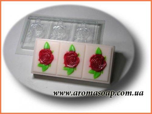 Форма для мила під нарізку Трояндочки 565г (пластик)