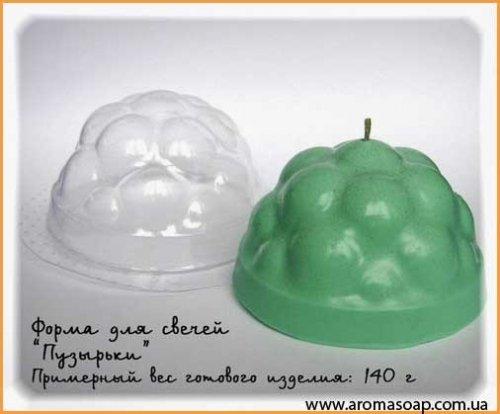 Форма для свечей Пузырьки 140 г (пластик)