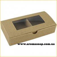 Коробка натуральная-Гофро с окошком