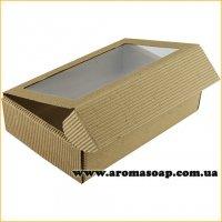 Коробка-гофро с окошком Техно