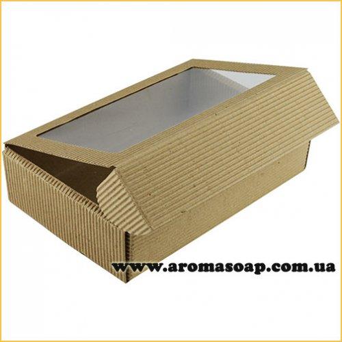 Коробка-гофро з віконцем Техно
