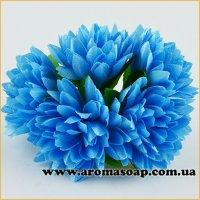 Бутоны Хризантем декоративные голубые 5 шт