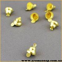 Колокольчик 8 мм золото 1шт