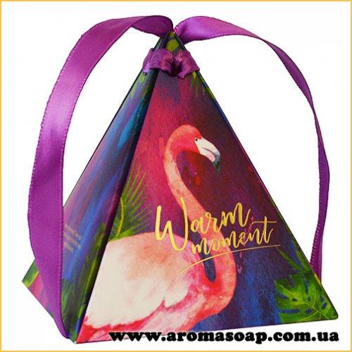 Коробка пирамидка Фламинго
