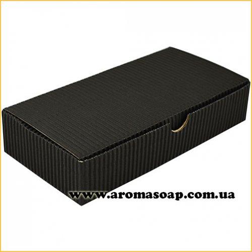Коробка натуральная Гофро черная