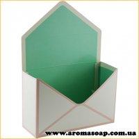 Коробка-конверт малая Мята для букета