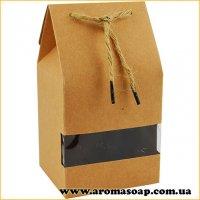 Коробка крафтовая с окошком и бечевкой