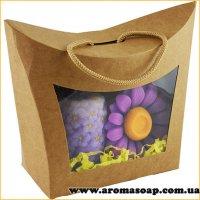 Коробка-сумочка Крафт с окошком