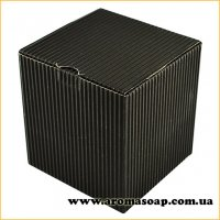 Коробка для 3D мыла гофро черная