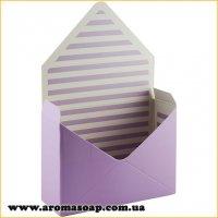 Коробка-конверт середня Бузкова для букета