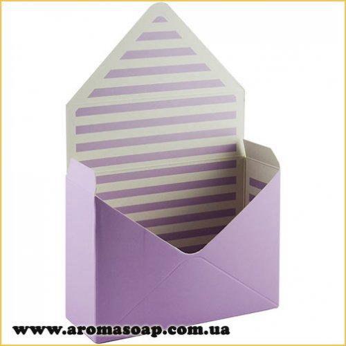 Коробка-конверт средняя Сиреневая для букета