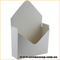 Коробка-конверт большая Белая для букета