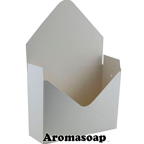 Коробка-конверт велика Біла для букета