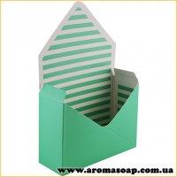 Коробка-конверт велика салатова для букета