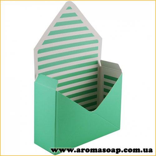 Коробка-конверт середня салатова для букета