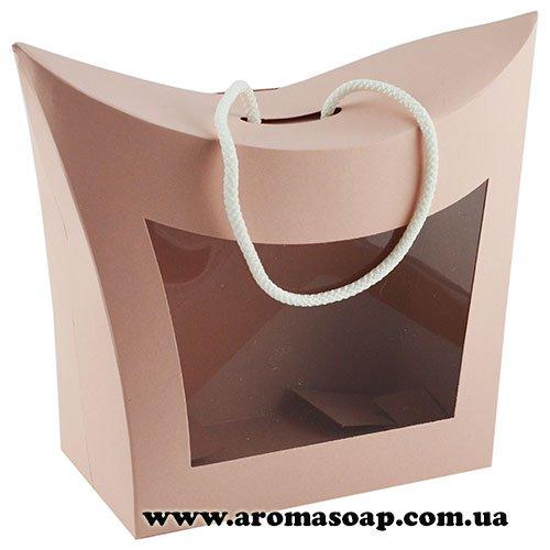 Коробка-сумочка Пудрова з віконцем