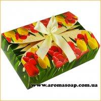 Коробка-Тюльпани з бантом Техно