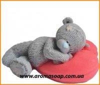 Мишка на подушке 3D элит-форма